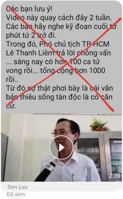 Truyền thông COVID-19: Video Clip của PCT UBND TPHCM Lê Thanh Liêm bị cắt ghép thế nào?
